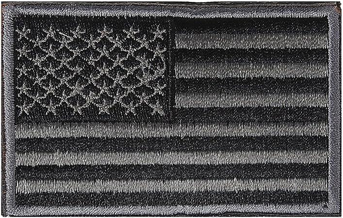 Xidan Parche de bandera táctica - EE.UU Negro Gris: Amazon.es: Hogar