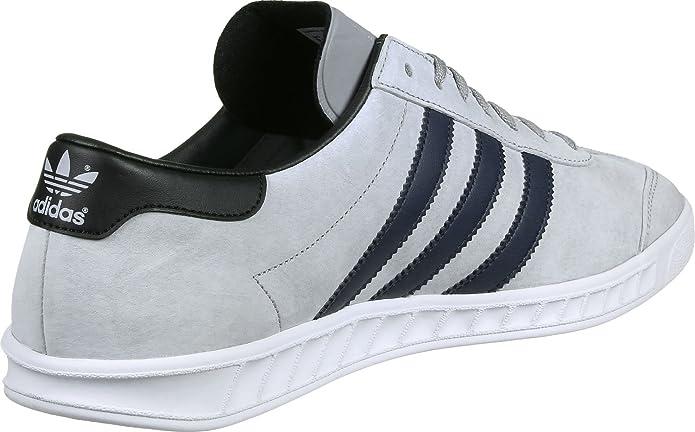 adidas Hamburg Herren Schuhe Grau mit schwarzen Streifen
