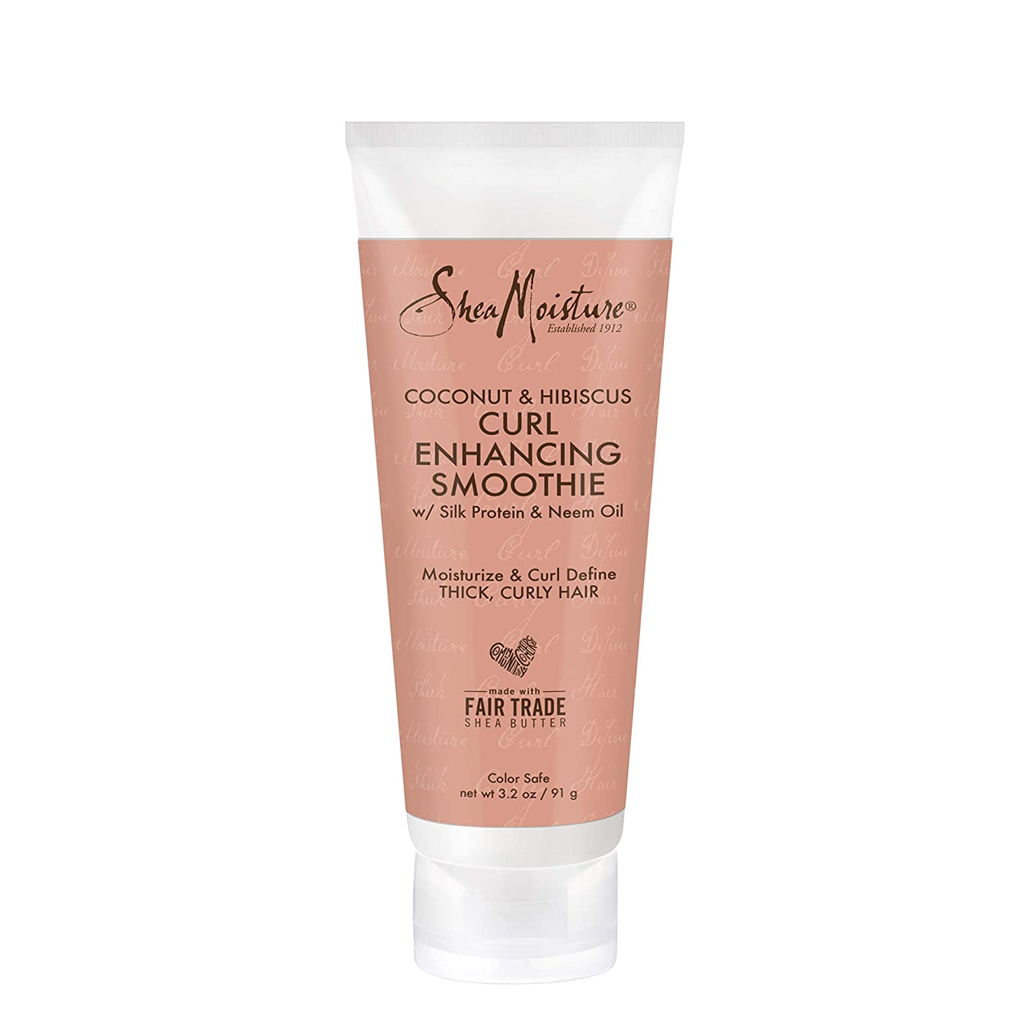SheaMoisture Coconut & Hibiscus Curl Enhancing for Thick, Curly Hair Smoothie to Reduce Frizz 3.2 oz (I0080326) : Beauty
