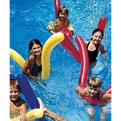 Swimline 6 pk Doodles Inflatable Pool Float Noodles Toy Learn to Swim Water Aerobics 9008: Toys & Games