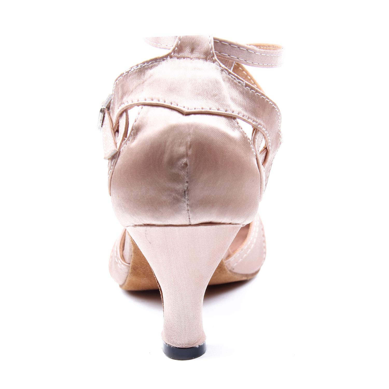 Jywmsc Donna Latino Danza Scarpe Femmina Prestazione Sala da Ballo Salsa Scarpe da Ballo