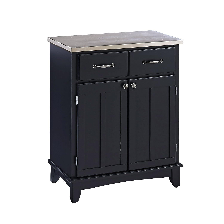 Buffet table furniture - Home Styles 5001 0043 Buffet Of Buffet 5001 Series Stainless Top Buffet Black