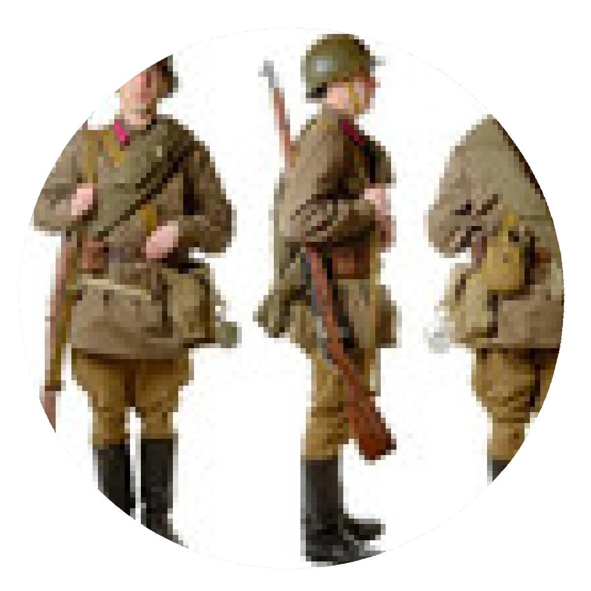alfombrilla de ratón soldado soviético en 1941, frente, perfil y ...