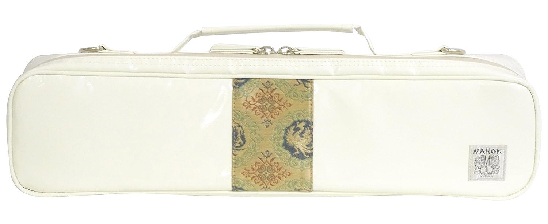 40% OFF C管フルートケースガード 「Amadeus-KYOTO/wf」 ホワイト/正絹西陣織ライン 【ドイツ製完全防水生地特殊湿度&温度調整機能 with 耐衝撃素材止水ファスナー】 Fabric from Germany,Made in Japan (アイボリー/西陣織 (14-3)) B075N1H7HW  アイボリー / 西陣織 (14-3)