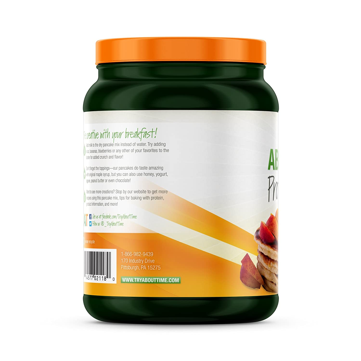 Amazon.com : About Time Protein Pancake Mix - Whey Protein Isolate, 21g of Protein Per Serving (Peach - 1.5 Pounds) : Grocery & Gourmet Food