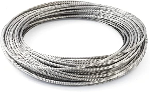 50m Drahtseil EDELSTAHL Stahlseil 5mm 7x7 Edelstahldrahtseil INOX V4A A4 rostfrei Gel/änder Seil Draht Stahl Edelstahlseil