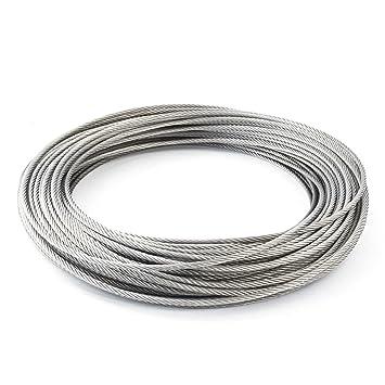 Relativ Drahtseil EDELSTAHL Stahlseil 1,5mm 50m 7x7 (0,26€/m KD93