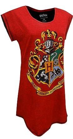 63184958f5 Harry Potter Hogwarts Juniors  Nightshirt Nightgown Pajamas (Teen Adult) at  Amazon Women s Clothing store