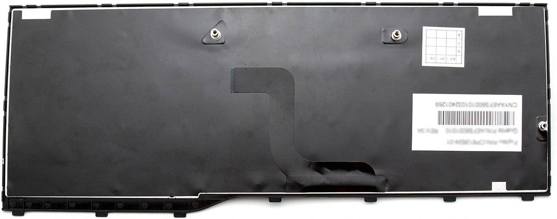 deutsch schwarz//schwarz gl/änzend f/ür Fujitsu LifeBook AH552 Serie IPC-Computer Tastatur DE