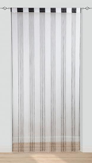 1x Rideau Fil pour Porte/Entrée/Séparateur d\'espace, 150x260CM Noir+ ...