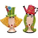 Appletree Design Garden Lady Salt and Pepper Set, 4-Inch