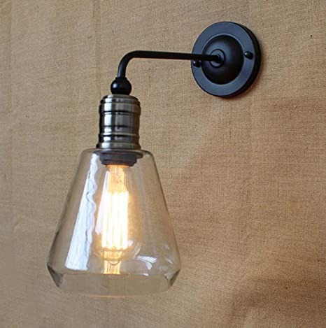 PST@ loft vintage wall lamps glass Wall Sconce bathroom bar coffee ...