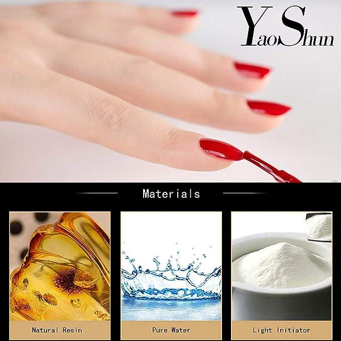 yaoshun Gelpolish, Soak-off (Gel Nail Polish) UV LED Uñas/Cuidado de Belleza 8 ml - # 272: Amazon.es: Belleza