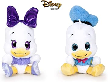 Famosa Softies - Pack de 2 Peluches Donald y Daisy Glitzies 629 ...