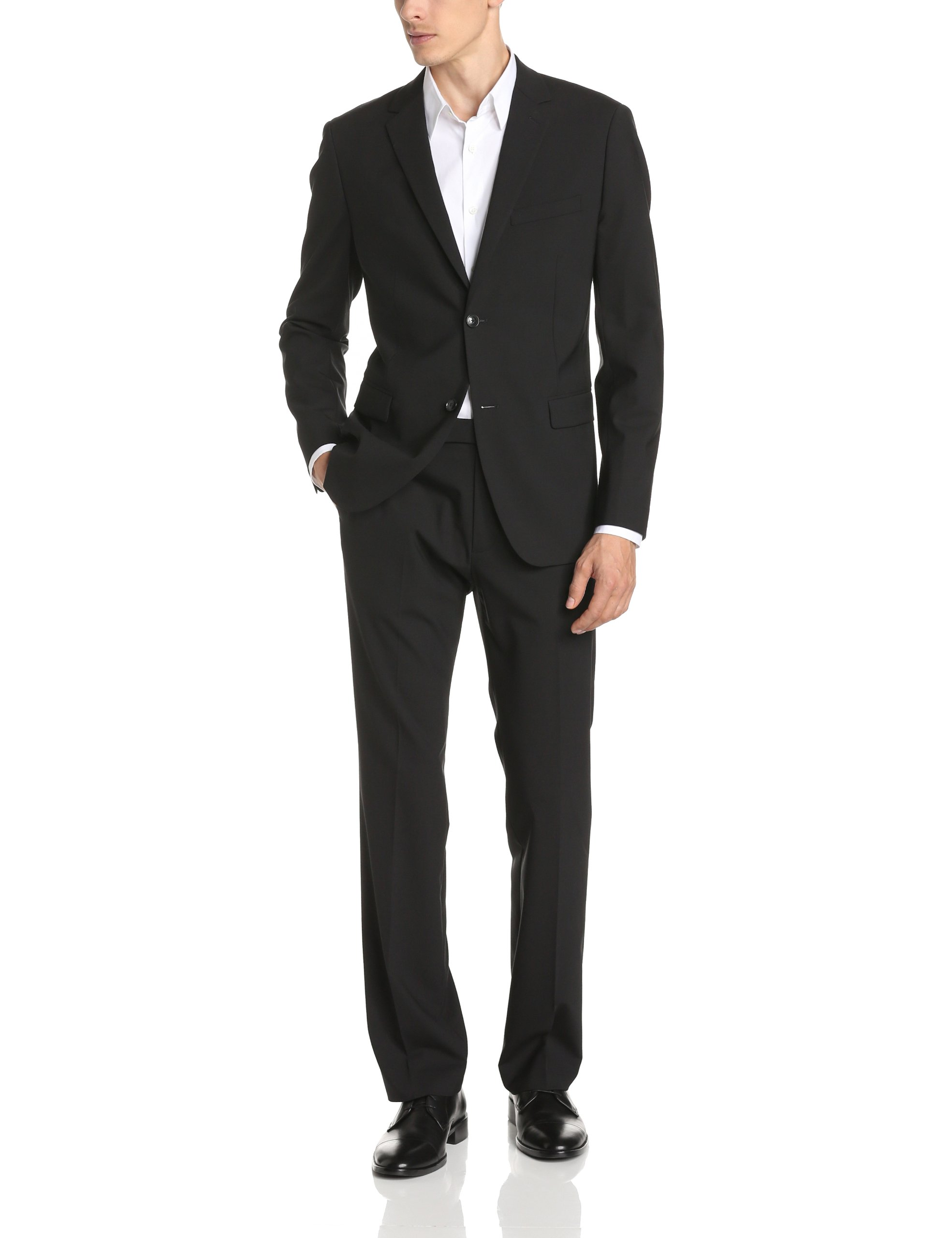 Theory Men's Wellar Half Canvas New Tailor Suit Jacket, Black, 44 by Theory