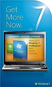 Microsoft Windows 7 Anytime Upgrade (Home Premium to Professional) [Online Code]