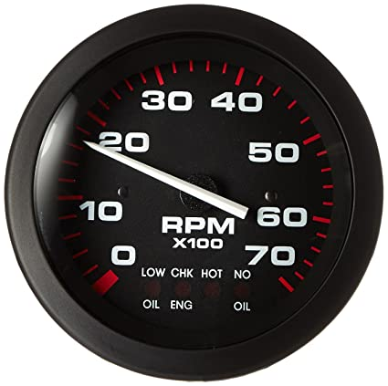 Sierra International 58935P Amega Domed Systems Check On Johnson/Evinrude  0-7000 Rpm Electric Tachometer, 3