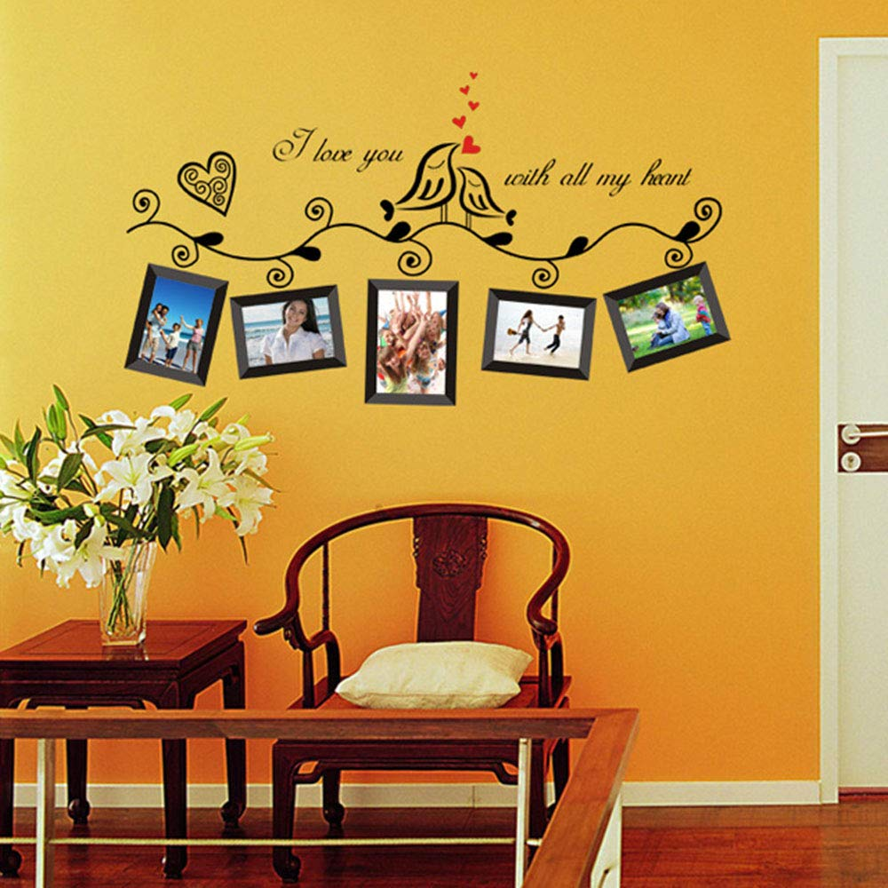 Amazon.com: HuaYang Love Heart Bird Wall Art Stickers Vinyl Decals ...
