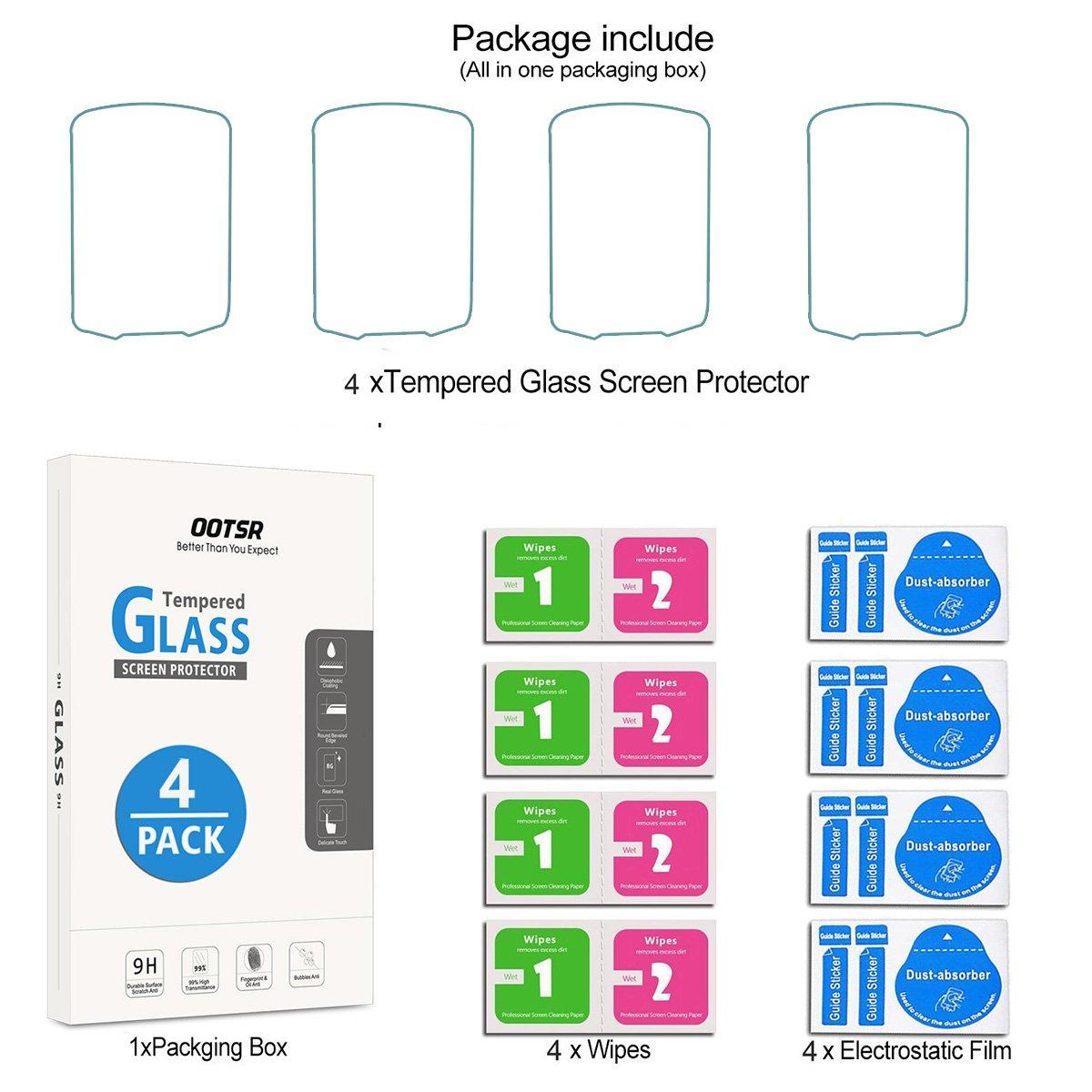 4-Pack Proteggi Schermo a Schermo Intero per Garmin GPSMAP 62 62s 62st 62sc 62stc 64 64s 64st 64sc con Crystal Clear Scratch Resist OOTSR Installazione Facile Bubble-Free Durezza 9H