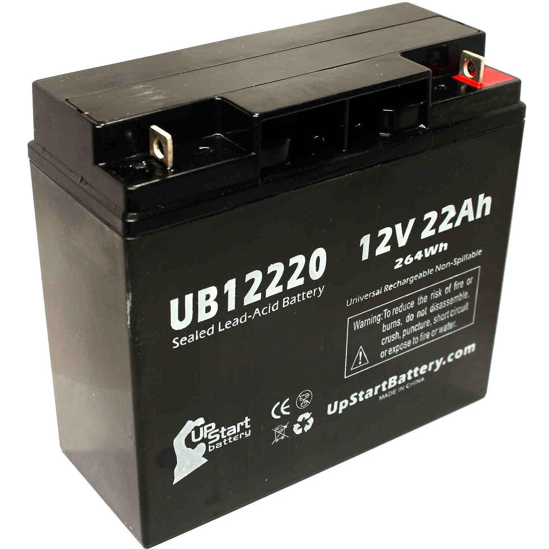APC SMART-UPS RM SU3000 Battery - Replacement UB12220 Universal Sealed Lead Acid Battery (12V, 22Ah, 22000mAh, T4 Terminal, AGM, SLA)