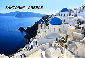 Greece Greek Fridge Refrigerator Magnets (1 Piece, Santorini-A6)