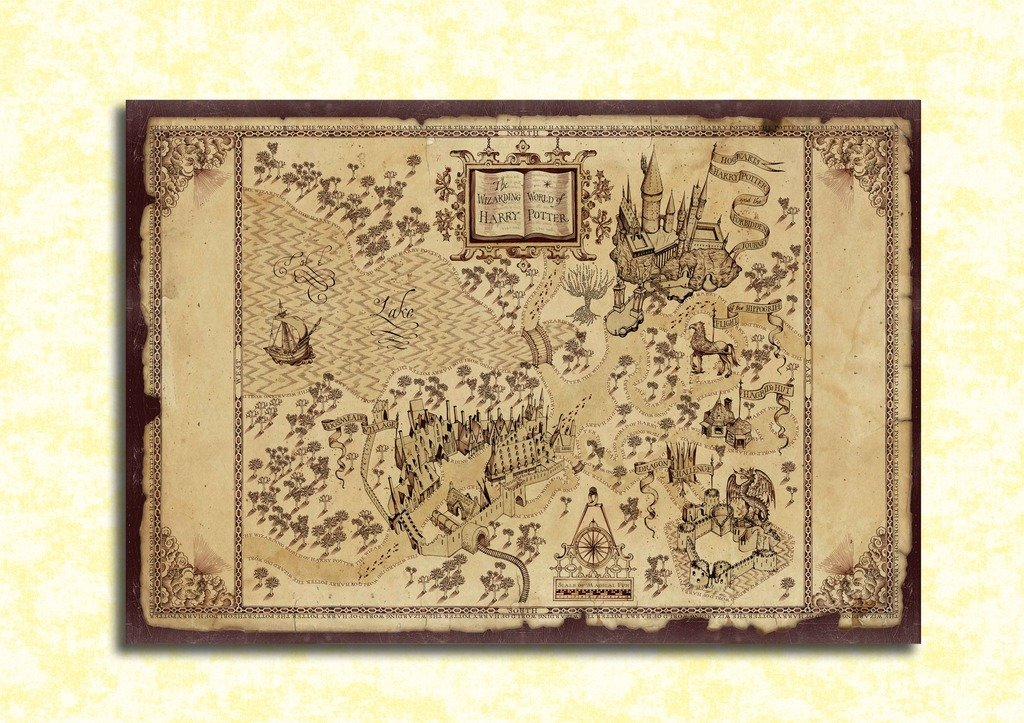Tamatina Wall Poster - The Wizarding World of Harry Potter - Map ...