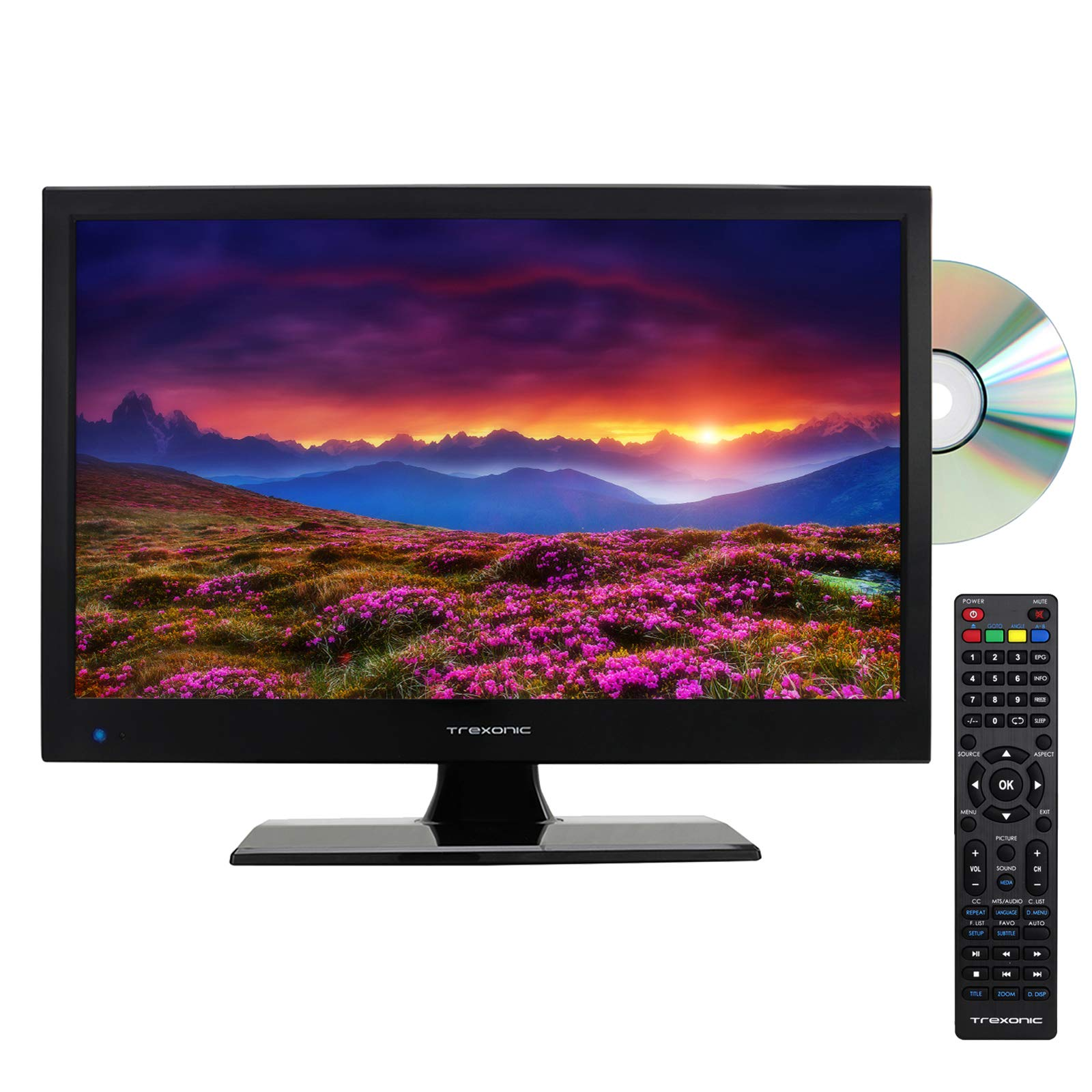 Trexonic 15.6'' LED Television with Built-in DVD Player and Multimedia Inputs by Trexonic