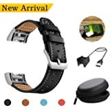 For Fitbit Charge 2 Leather Replacement Bands + Charging Cable + Screen Protector + Box
