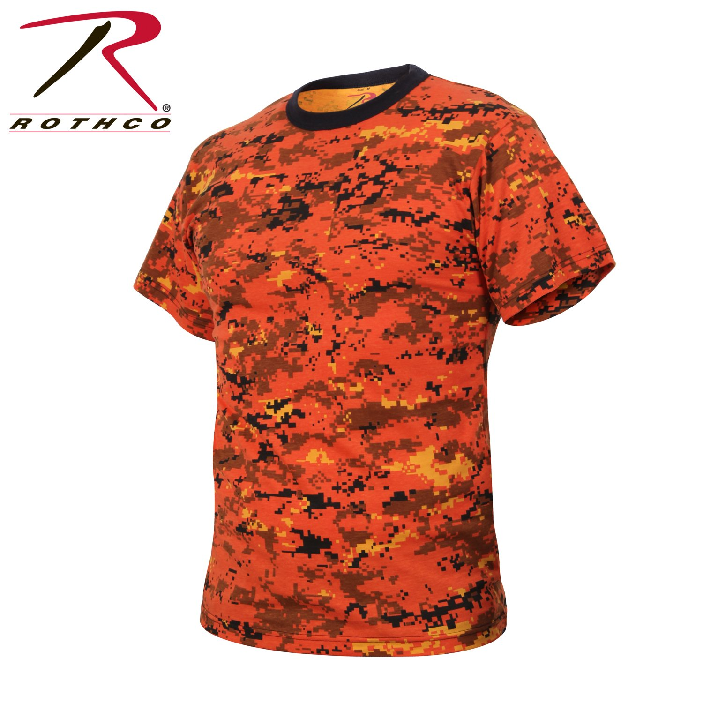 Rothco T-Shirt, Digital Orange Camo, 3X by Rothco