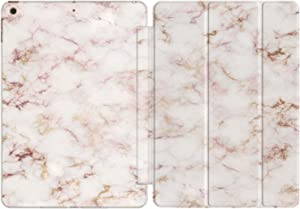 Vonna Case Replacement for Apple iPad Air 4th Gen 2020 12.9 Pro 10.2 8th 11 10.5 9.7 Mini 5/4/3/2/1 Print Pink Elegant Slim Texture Simple Magnetic Stand Closure Marble Nature Design Gentle vm165