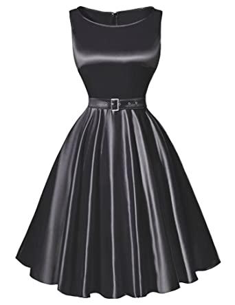 David Nadeau Women Dress Black Red Summer Vintage Dresses Rockabilly Party Dress 1 S