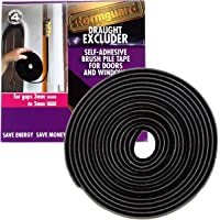 Brush Pile Draught Excluder Strip for gaps 3-5mm - 6 metre roll Black