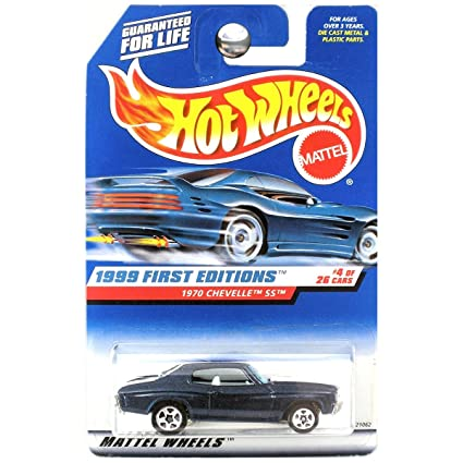 Hot Wheels 1999 First Editions 1970 '70 Chevy Chevelle SS Dark Blue #4