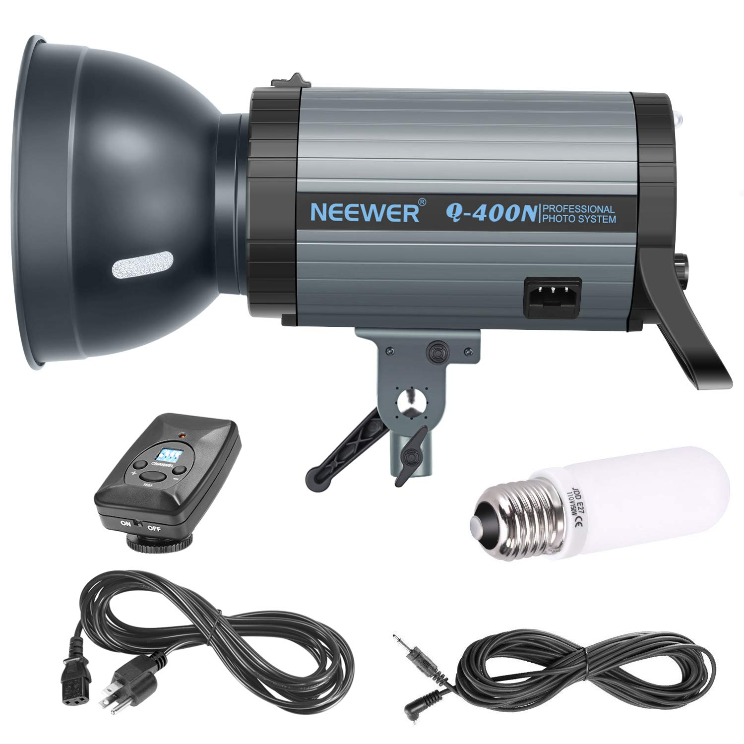 Neewer 400W GN65 Studio Flash Strobe Light Monolight with 2.4G Wireless Trigger and Modeling Lamp, Recycle in 0.01-0.5 Sec, Bowens Mount for Indoor Studio Portrait Photography(Q400N) by Neewer (Image #2)