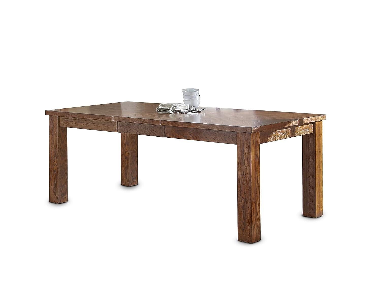 Steve Silver Company Lakewood Table with 18 Leaf, 42 x 60 -78 x 30 , Medium Oak
