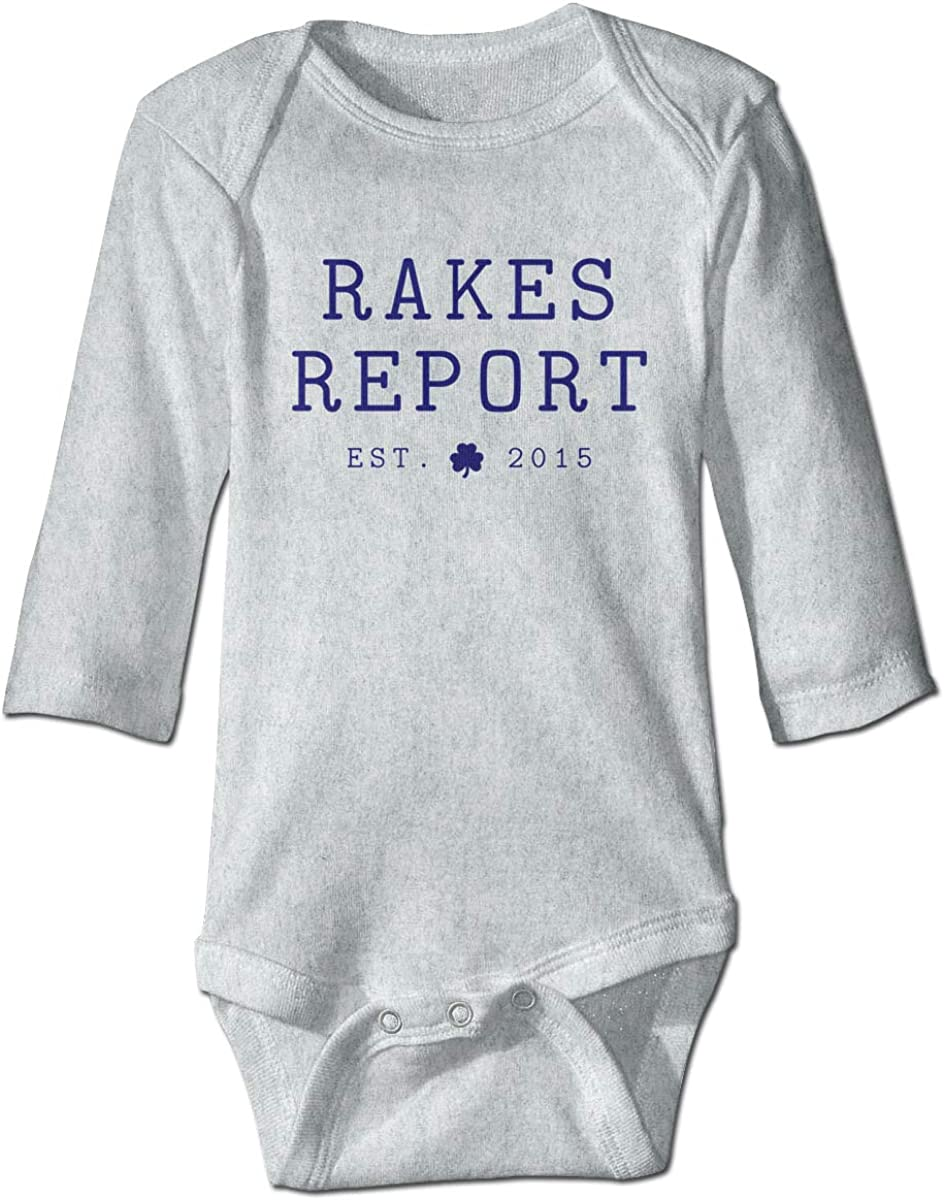 Marsherun Infant Babys Girls and Boys Rakes Report Long-Sleeve Rompers Playsuits
