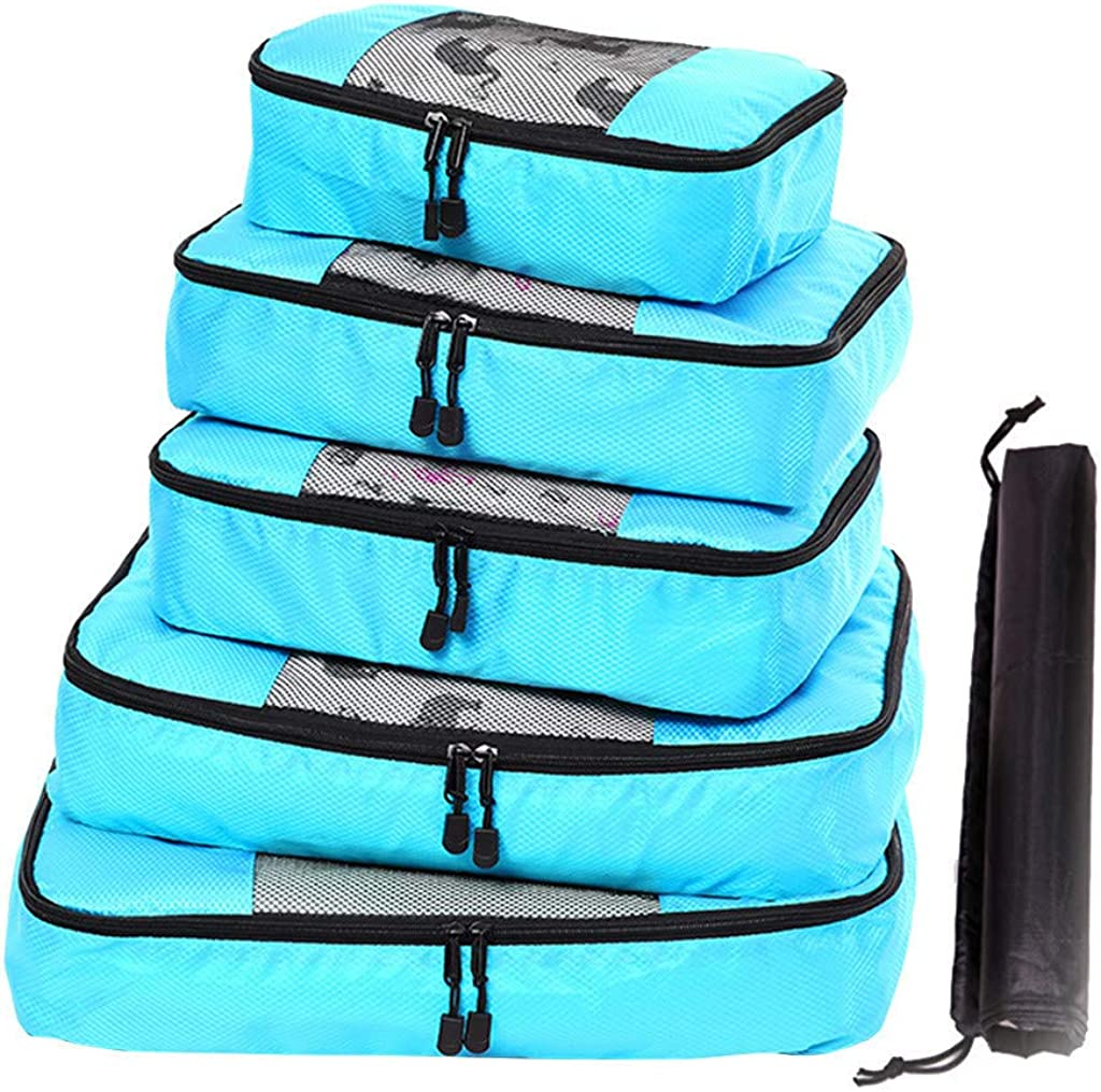 Luggage Organizer Set Durable 5 Piece Weekender OFEFAN Packing Cube System