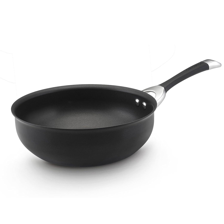 Circulon Symmetry Hard-Anodized Nonstick Chef Pan, 4.5-Quart, Black