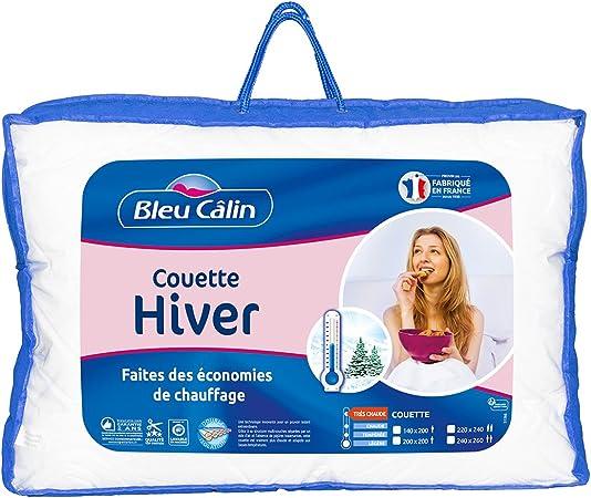 meilleur endroit Découvrez limpide en vue Bleu Câlin Couette Hiver 1 à 2 Personnes, Très Chaude, Blanc, 200x200cm, KTC