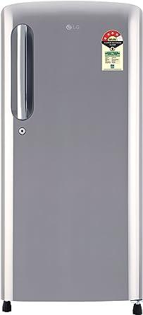 LG 190 L 4 Star Direct Cool Single Door Refrigerator(GL-B201APZX.APZZEBN, Shiny Steel,Smart Inverter Compressor)