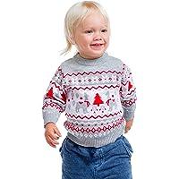 Suéter de llama, color gris, unisex, para niños pequeños