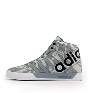new style 2858a 9ca0c adidas Originals Hardcourt Hi Big Logo Weave Mens Trainers Shoes (UK-6.5,  EUR