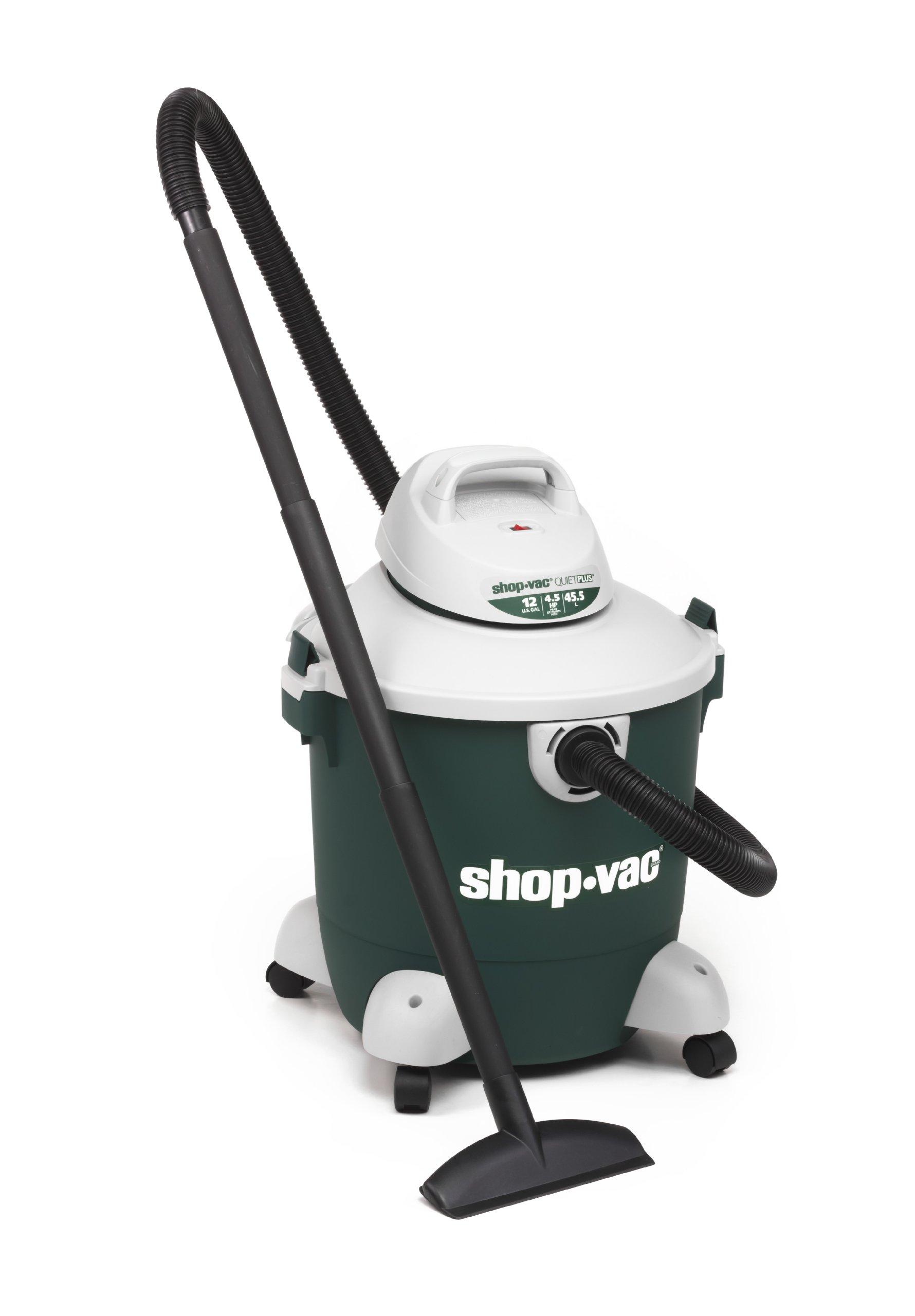 Shop-Vac 5981200 12-Gallon 4.5 Peak HP Quiet Plus Series Wet Dry Vacuum