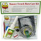 Monster French Horn Care and Cleaning Kit | Rotor Valve Oil w/Easy-To-Use Needle Applicator Tip, Slide Grease, and…
