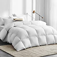 Giselle Bedding 700GSM Goose Down Quilt Cotton Cover Double-Stitched Soft Lightweight Duvet Doona Blanket for Winter…