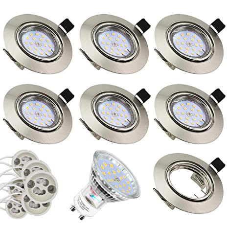 Foco Empotrable | Led Gu10 Luz de Techo 5W equivalente a incandescente 60W | Blanco Cálido