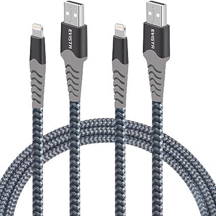 Anker iPhone 7 8 XS Xr Cargador remium Nylon Lightning Cable 6 pies de carga USB