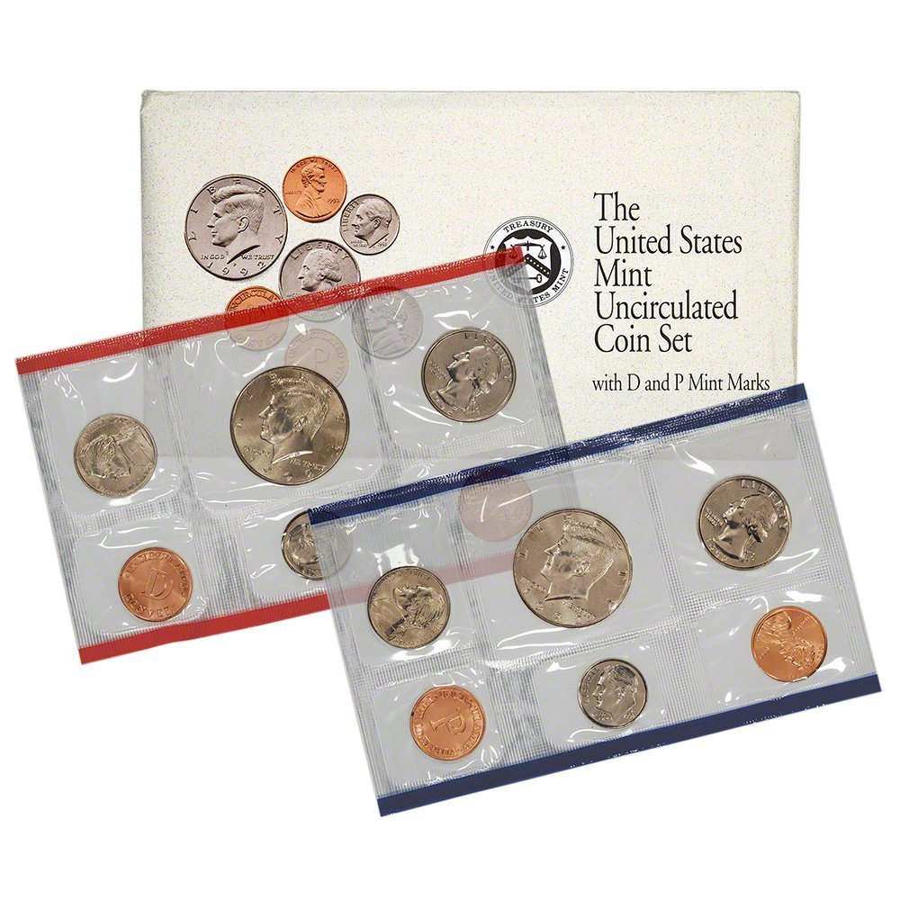 1990 P/&D United States 12 Coin BU Mint Set as Issued In OGP W// Envelope /& COA