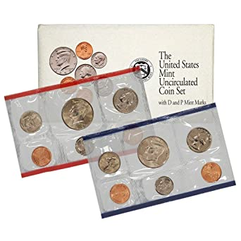 2003 Uncirculated Coin Set US Mint Philadelphia 10 Coins Set