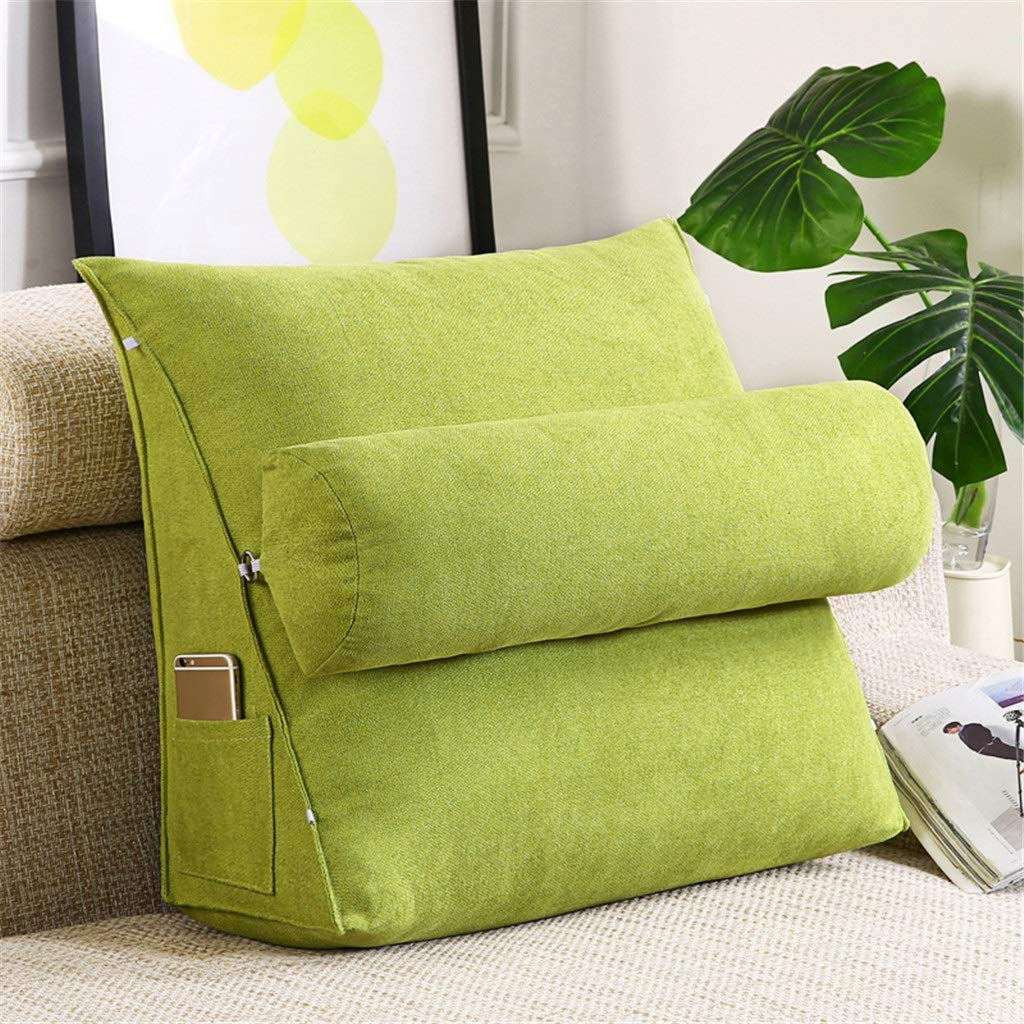 Lil Band Head Pillow Triangle Cushion, Sofa Office Bay Window Lumbar Pillow/Lumbar Support Waist/Pillow (can Be Adjusted in Three Steps) (Color : Green, Size : 45x45x20cm) by LILISHANGPU (Image #2)